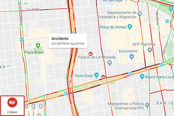 como saber si hay un accidente en carretera